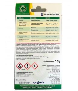Środek grzybobójczy Ridomil Gold MZ 68,7 WG 10g tył