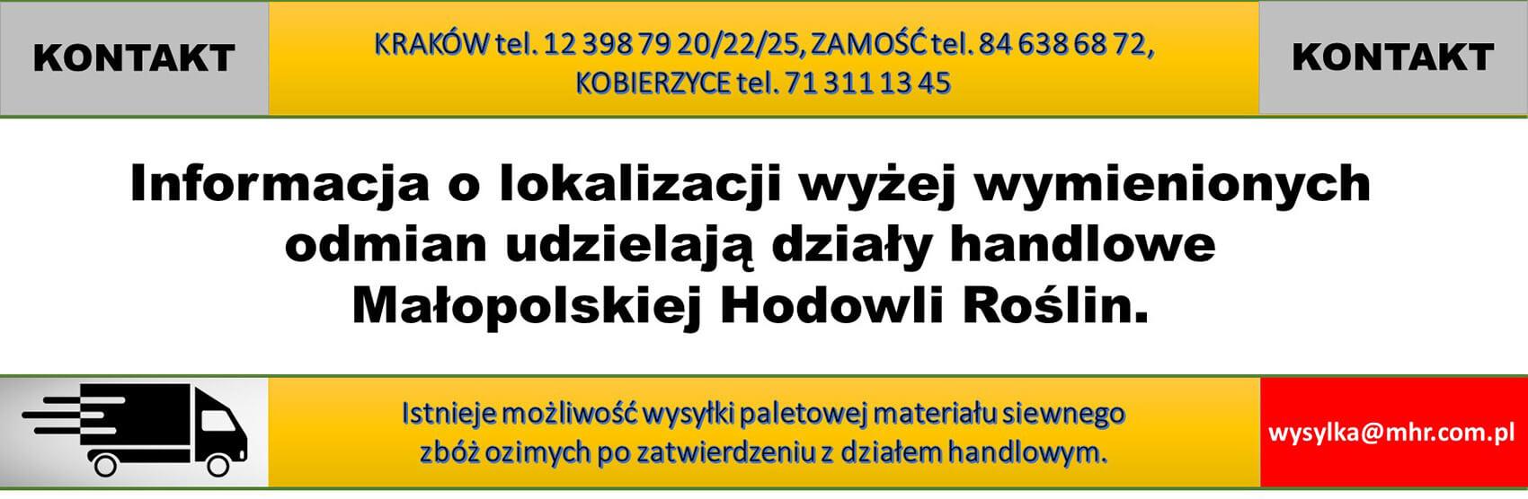 wysyłka nasion MHR Kraków