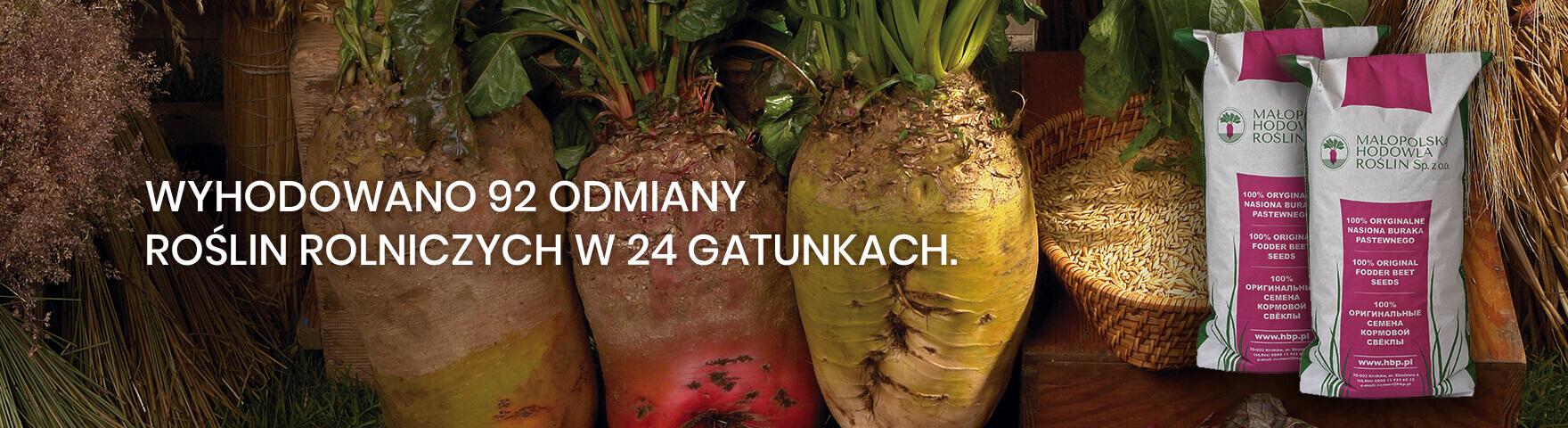 92 odmiany roślin rolniczych w 24 gatunkach