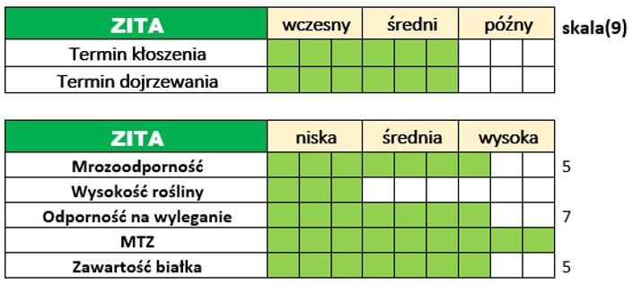 Ważniejsze cechy użytkowo-rolnicze jęczmienia ozimego – ZITA.